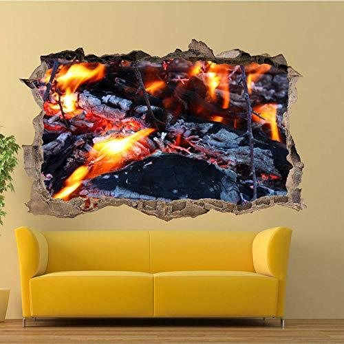 Pegatinas de pared CAMPING AL AIRE LIBRE CAMPFIRE PEGATINAS DE PARED CALCOMANÍA DE ARTE 3D MURALES CARTEL SALA DECA Póster Arte 3D Mural 50x70cm