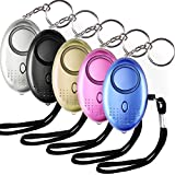 Aboat 5 PACK 130db Personal Security Alarm Keychain with LED light, Emergency Self-Defense Security Alarm Providing Powerful Safety and Property Assurance for Women/Kids/Elderly/Girls/Explorer