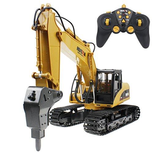 fisca RC Excavator Remote Control Drill...