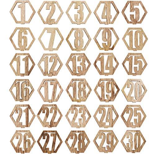 Heldere creaties houten tafel nummers 1-30 voor bruiloften, ambachten
