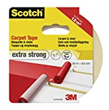 Scotch 42022050 - Nastro adesivo per moquette, 50 mm x 20 m, bianco