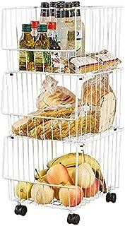 Rouleau de rangement en métal à plusieurs couches de la cuisine Fruit Basket de stockage. Type de sol. Organisateur chario...