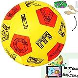 XL - Lernspielball -  ABC - Buchstaben - Alphabet / Wörter - 3-D APP Spiel - alle Sprachen !  - Ø 40 cm - Lernspiel Ball - Lernen & Üben & Kennenlernen - Le.. -