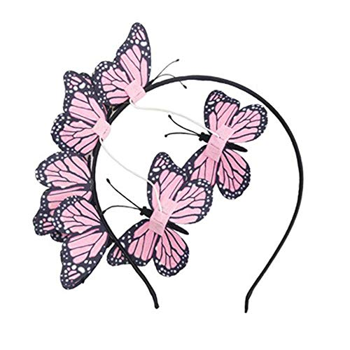 Papillon Cerceau de Cheveux, Bandeau Papillon Rose, Cerceau de Cheveux de Coiffure de Papillon, Cerceau de Cheveux Papillon pour Femme, pour Convient aux Dames Filles, Mariages Fêtes