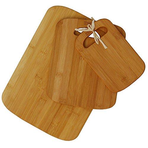Oceanstar 3-Piece Bamboo Cutting Board Set, Natural