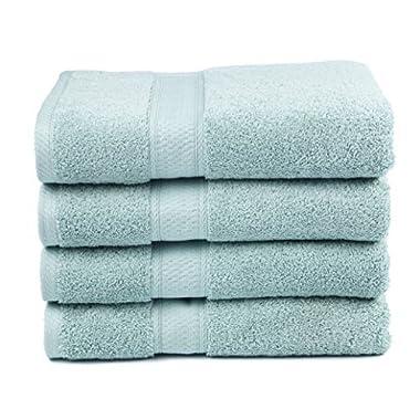 700 GSM Premium Bath Towels Set of 4 - 100% Cotton, Super Soft, Ultra Absorbent (30  X 52 ) (Duck Egg)