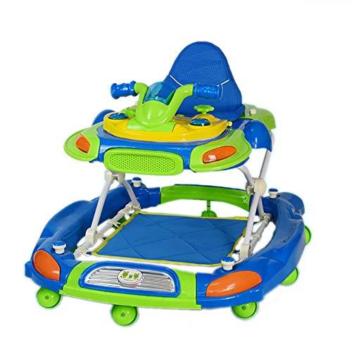 Baby Walker Anti-Rollover Opvouwbare Kinderwagen Baby Variabele Schommelende Paard Trolley Wheel HUYP