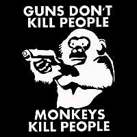 車用ステッカー・デカール 11センチメートル* 14.8CM銃は猿のビニールウィンドウデカールステッカー面白い車ステッカーカーアクセサリーを殺しません BJRHFN (Color : White)