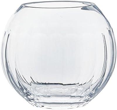 LXF Florero de Cristal Transparente esférico Minimalista Moderno de la Sala de Estar del hogar Florero