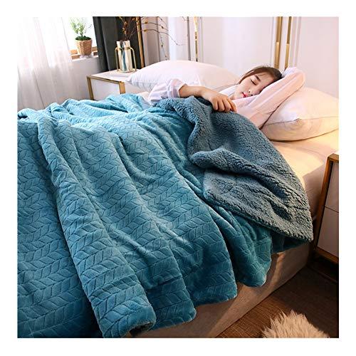 Kissnite Flanell Mikrofaserdecke Dicke Decke Superweiche Luxus Kuscheldecke Doppelseitig Decke Warme Bettdecke Tagesdecke Wohndecke Wendedecke Sofadecke Couchdecke