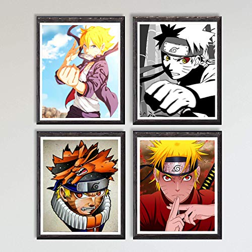 Póster, ilustración de manga, impresión artística de pared, disponibles diseños de las series de anime Naruto, Hunter Tokyo Ghoul, Demon Slayer y My Hero Academia