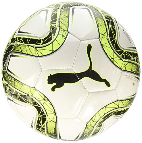 PUMA Final MS Mini Trainer, Pallone da Calcio Unisex-Bambini, White/Lemon Tonic/Black