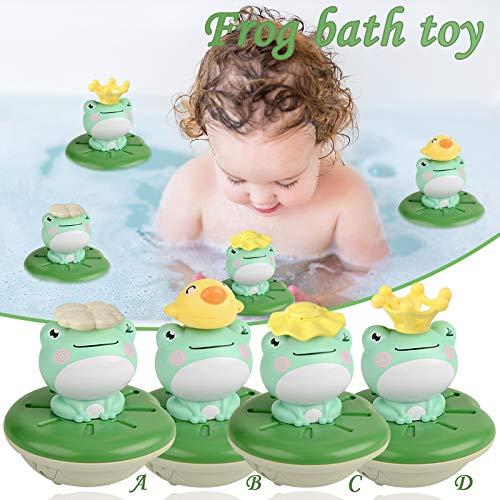 MARIJEE 4 unids agua eléctrica spray rana espolvorear baño juguete niños agua salpicaduras juguetes niños baño divertido juego