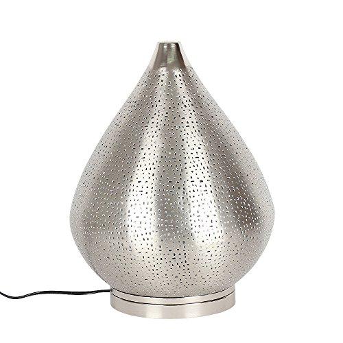 albena shop 71-6338 Fare lámpara de mesa oriental 37 cm metal plata