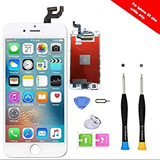 Premium Screen Replacement Compatible with iPhone 6S Plus Full Assembly -LCD Touch Digitizer Display Glass Assembly with Tools, Fit Compatible with iPhone 6S Plus (White)