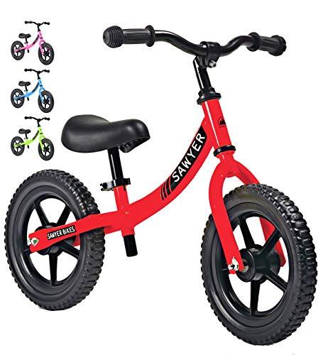 Sawyer - Bicicleta Sin Pedales Ultraligera - Niños 2, 3, 4 y 5 Años (Rojo)