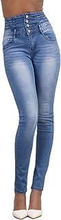 YOUCAI Vaqueros Skinny para Mujer Pantalones Vaquero Push Up Pantalones Elástico Jeans Cintura Alta