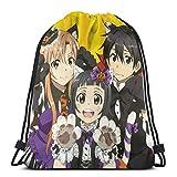Bolsas de cuerdas Anime Sword Art Online Bolsa con cordón bolsa deportiva bolsa de almacenamiento bolsa de regalo de fiesta bolsa con cordón portátil al aire libre