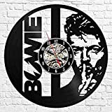 15 David Bowie Reloj de Pared 3D diseño Moderno Tema Musical Pegatina Retro Disco de Vinilo Reloj...