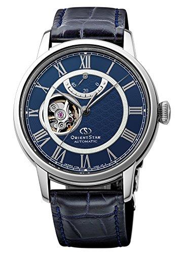 [オリエント時計] 腕時計 オリエントスター セミスケルトン 機械式 自動巻(手巻付) ネイビー RK-HH0002L