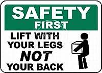 安全第一 金属板ブリキ看板警告サイン注意サイン表示パネル情報サイン金属安全サイン