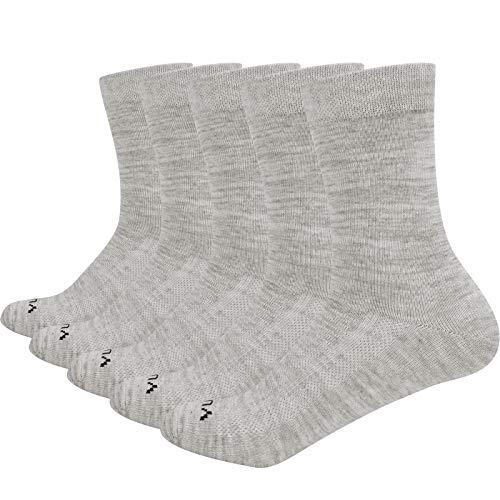 YUEDGE 5 Pares Casuales de Algodón para Mujeres Calcetines Transpirables Calcetines de Trabajo