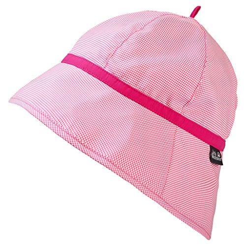 Jack Wolfskin Unisex-Kinder Supplex Sun Hat Girls Hut, Hot Pink Checks, S