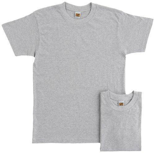 [グンゼ] インナーシャツ G.T.HAWKINS 綿100% Tシャツ 2枚組 HK10132 メンズ グレ-モク 日本M (日本サイズM相当)