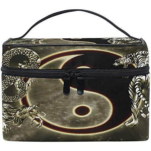 Dragon and Tiger Gossip Travel cosmeticatas make-up tas cosmeticatas toiletartikelen organizer voor vrouwen meisjes