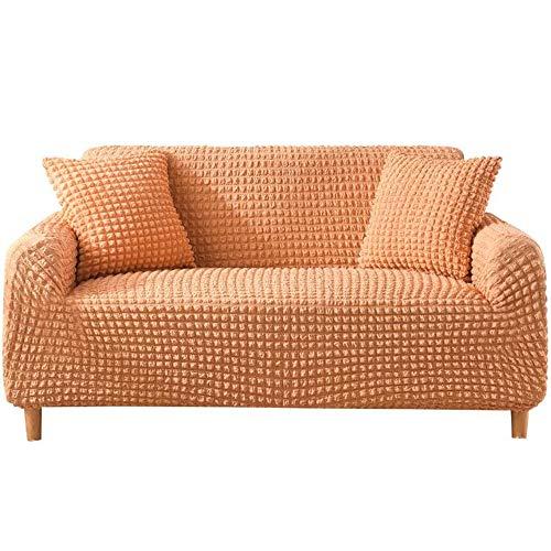 Abodos Funda para sofá, Funda para sofá con Todo Incluido, Funda para Muebles Lavable Multifuncional, Adecuada para sofá de Cualquier tamaño,Naranja,Double Seat