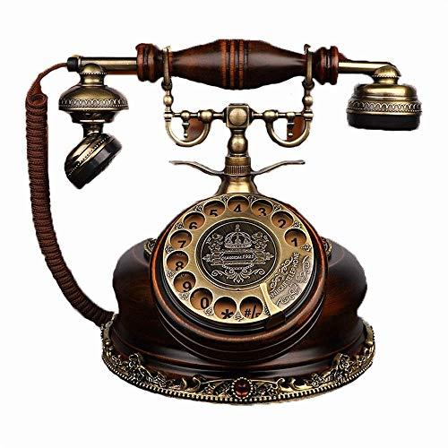 WCJ Antike Telefon-Set europäischen Haushalt Retro Telefonapparat Feste Karte Wireless Dreh Wohnzimmer Schlafzimmer verdrahteten