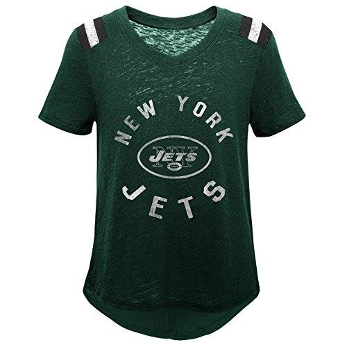 Outerstuff NFL by NFL New York Jets Jugendliche-T-Shirt, Retro-Block, Vintage, kurzärmlig, Jägergrün, Gr. XL (16)