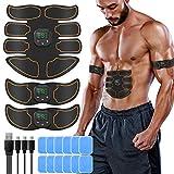 SUNGYIN EMS Muskelstimulator bauchtrainer ABS Trainingsgerät Professionelle USB Elektrostimulation Elektrisch Bauchmuskeltrainer Fitnessgürtel für Damen Herren