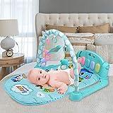 Alfombra de juego para bebé de 3 – 6 – 12 meses recién nacidos y niños pequeños, contiene numerosos sanitarios y calmantes, funciones hipnóticas