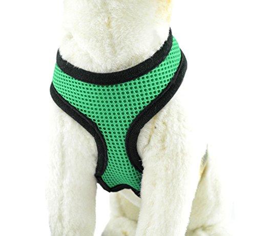YiJee Haustier Hund Sommer Bekleidung Sicher Kontrolle Hundegeschirr Welpen Vest Harness Grün S