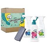 HAKA Superheldenbox I Putzmittel Starterset für den Wohnbereich wie Küche & Bad I Reinigungsset geeignet für Auto & Wohnmobil I Nachhaltig & Vegan