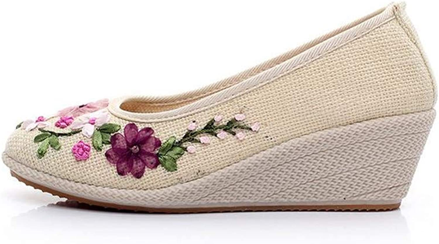 BeautyOriginal Woman's Performance Retro Embroidered Non-Slip Tendon shoes