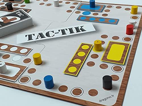 Jeu de société Tac-TIK Convivial pour Famille - Plateau modulable 2 à 6 Joueurs 53 x 31.4 cm - Fabriqué en France