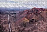 1000 pieces-Timanfaya National Park in Lanzarote Island Aerial View of Canary Wooden Jigsaw Puzzle DIY Children Educational Puzzles Adult Decompression Gift Creative Games Toys Puzzles Home Decor