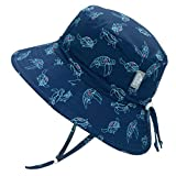 Jan & Jul Toddler Sun Hat for Boys Girls, Water Repellent, 50+ UPF, Quick Dry (S: 0-6 Months, Turtle)