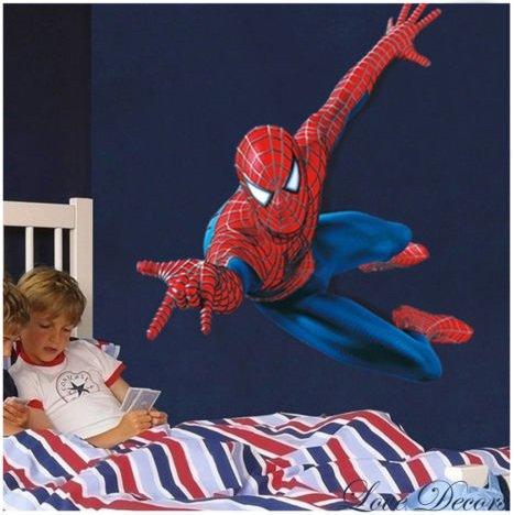 Spiderman XXL Enorme Grande Uomo Ragno Adesivi murali Bambini Ragazzi Camera da letto Decalcomania Arte Murale Decor.