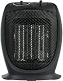 PELONIS PHTA1ABB Portable, 1500W/900W, Quiet Cooling & Heating Mode Space Heater for All Season, Tip Over & Overheat Protection,for Home, Office Personal Use, Black, 7 x 5.82 x 8.54 inches