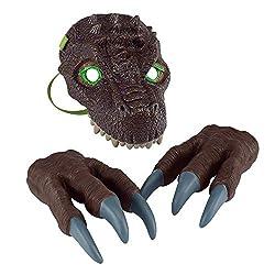2. 2CFUN Kid's Dinosaur Mask and Claws Set