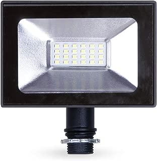 LLT 10W LED Flood Light with Knuckle Mount Super Slim SMD Outdoor Landscape Security Waterproof 5000K (Daylight) Black