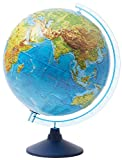 Idena 21426 - Interaktiver Leuchtglobus, mit Relief-Oberfläche, spannende Weltreise mit der IQ...
