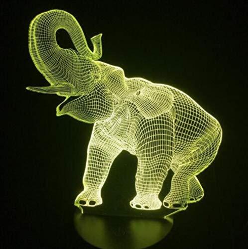 Luz nocturna 3D visual Ilusión óptica Luz de noche para Niños 3D illusion light para hombres, mujeres, niños, niñas, regalo Con interfaz USB, cambio de color colorido