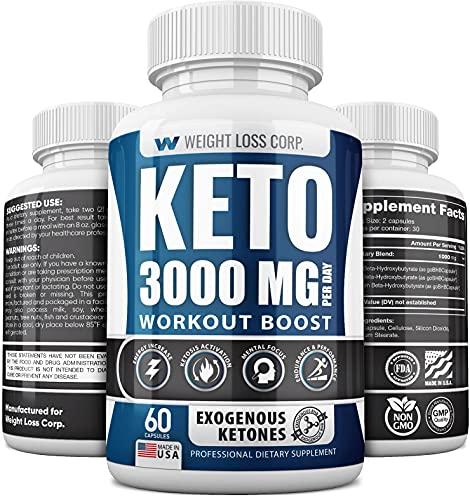 Keto Diet Pills - Ketogenic BHB Supplement for Men...