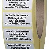 Adressetiketten mit Wunschdruck 200 Stück 40 x 20 mm Haftpapier weiß jetzt selbst gestalten