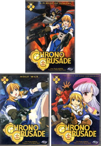 Chrono Crusade Volume 1, 2 & 3 (A Plague of Demons, Holy War & The World, The Flesh & The Devil) 3 DVD Sets