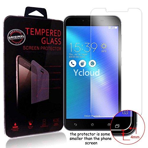 Ycloud Panzerglas Folie Schutzfolie Bildschirmschutzfolie für Asus ZenFone 3 Max (5.5 Zoll) ZC553KL screen protector mit Festigkeitgrad 9H, 0,26mm Ultra-Dünn, Abger&ete Kanten